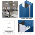 CRL Custom Powder Painted Deluxe Series Square Column Covers Two Panels Opposing