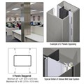 CRL Custom Brushed Stainless Deluxe Series Square Column Covers Four Panels Staggered
