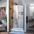 DreamLine SHDR-20377210-09 Unidoor Min 37 in. to Max 38 in. Frameless Hinged Shower Door, Clear 3/8 in. Glass Door, Satin Black Finish