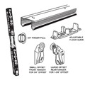 "E-Z Roll Sliding Door Track Set, 70-1/2"" Track for 6 ft Door Opening"