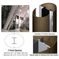 CRL Custom Brushed Bronze Standard Series Elliptical Column Covers Two Panels Opposing