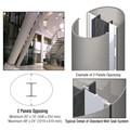 CRL Custom Brushed Stainless Standard Series Elliptical Column Covers Two Panels Opposing