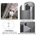 CRL Custom Mica Platinum Standard Series Elliptical Column Covers Two Panels Opposing