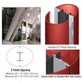 CRL Custom Newlar Painted Standard Series Elliptical Column Covers Two Panels Opposing