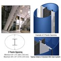 CRL Custom Powder Painted Standard Series Elliptical Column Covers Two Panels Opposing