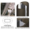 CRL Custom Oil Rubbed Bronze Standard Series Elliptical Column Covers Four Panels Opposing