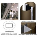CRL Custom Brushed Bronze Standard Series Elliptical Column Covers Four Panels Opposing
