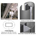 CRL Custom Champagne Metallic Standard Series Elliptical Column Covers Four Panels Opposing