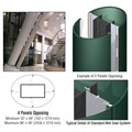 CRL Custom Kynar Painted Standard Series Elliptical Column Covers Four Panels Opposing
