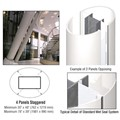 CRL Custom Bone White Standard Series Elliptical Column Covers Four Panels Staggered