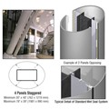 CRL Custom Non-Directional Stainless Standard Series Elliptical Column Covers Four Panels Staggered