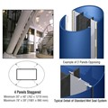 CRL Custom Powder Painted Standard Series Elliptical Column Covers Four Panels Staggered