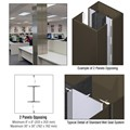 CRL Custom Oil Rubbed Bronze Standard Series Square Column Covers Two Panels Opposing