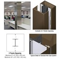 CRL Custom Brushed Bronze Standard Series Square Column Covers Two Panels Opposing