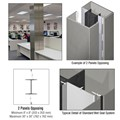 CRL Custom Brushed Stainless Standard Series Square Column Covers Two Panels Opposing