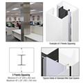 CRL Custom Bone White Standard Series Square Column Covers Two Panels Opposing