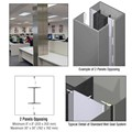 CRL Custom Champagne Metallic Standard Series Square Column Covers Two Panels Opposing