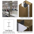 CRL Custom Polished Bronze Standard Series Square Column Covers Two Panels Opposing