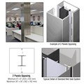 CRL Custom Polished Stainless Standard Series Square Column Covers Two Panels Opposing