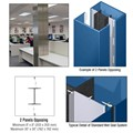 CRL Custom Powder Painted Standard Series Square Column Covers Two Panels Opposing