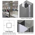 CRL Custom Mica Platinum Standard Series Square Column Covers Four Panels Opposing