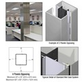 CRL Custom Non-Directional Stainless Standard Series Square Column Covers Four Panels Opposing
