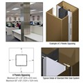 CRL Custom Polished Bronze Standard Series Square Column Covers Four Panels Opposing