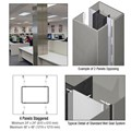 CRL Custom Brushed Stainless Standard Series Square Column Covers Four Panels Staggered