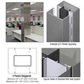 CRL Custom Mica Platinum Standard Series Square Column Covers Four Panels Staggered
