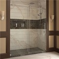 DreamLine SHDR-6260760-07 Enigma-Z 56 to 60 Fully Frameless Sliding Shower Door, Clear Glass, Brushed Stainless Steel Finish