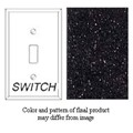 Granique Single Toggle Switch Cover, Black Galaxy