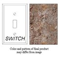 Granique Single Toggle Switch Cover, Baltic Brown