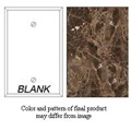 Granique Blank Cover Plate, Emperador Dark