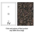 Granique TV/Cable Cover Plate, Baltic Brown