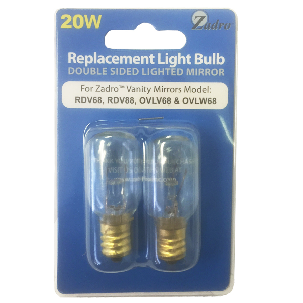 Replacement Light Bulbs For Zadro, Zadro Makeup Mirror Replacement Bulbs