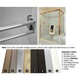 "Antique Bronze Sliding Frameless Shower Door Double Towel Bar Kit - 24"" long"
