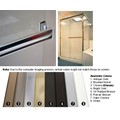 "Bright Gold Sliding Frameless Shower Door Single Towel Bar Kit - 24"" long"