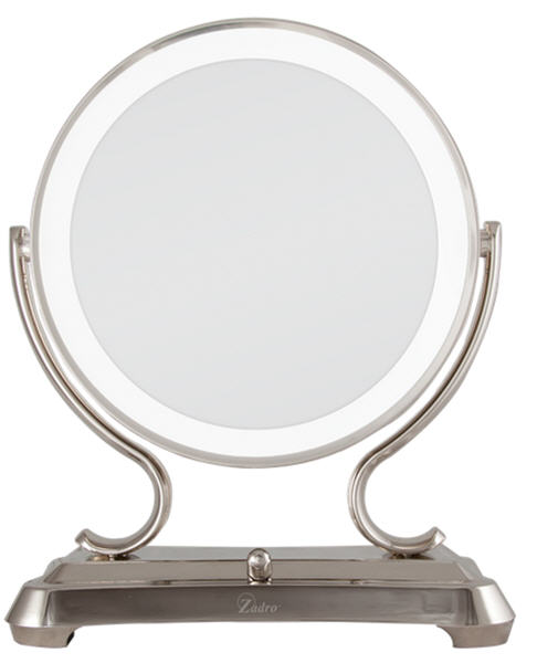Zadro Gla75 Polished Nickel Surround, Zadro Makeup Mirror Replacement Bulbs