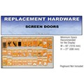 CRL Screen Door Replacement Hardware Display for the Midwest