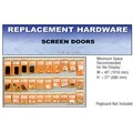 CRL Screen Door Replacement Hardware Display for the Northeast