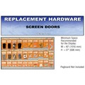 CRL Screen Door Replacement Hardware Display for the Northwest