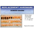 CRL Screen Door Replacement Hardware Display for the Southeast
