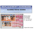 CRL Sliding Patio Door Replacement Hardware Display for the Midwest