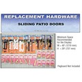 CRL Sliding Patio Door Replacement Hardware Display for the Northeast