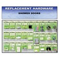 CRL Shower Door Replacement Hardware Display