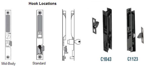 Larger Flush Handle Sets, Such As C1030 And AR44300 Operate Mortise Locks  Within The Door Stile. Be Sure To Pick Replacement Mortise Locks Having A  22 1/2 ...