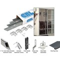 "CRL Satin Anodized 61"" x 81"" Rio Extruded K.D. Sliding Screen Door Kit"