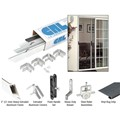 "CRL White 61"" x 81"" Rio Extruded K.D. Sliding Screen Door Kit"