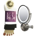 The Original Pedi-Sox Black Band and Zadro LEDOVLW410 LED Oval Wall Mounted Makeup Mirror