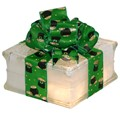 Lighted Glass Block with St. Patrick's Pot O Gold Ribbon